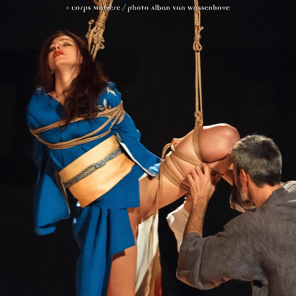 Performance shibari caen Alban Van Wassenhove 05