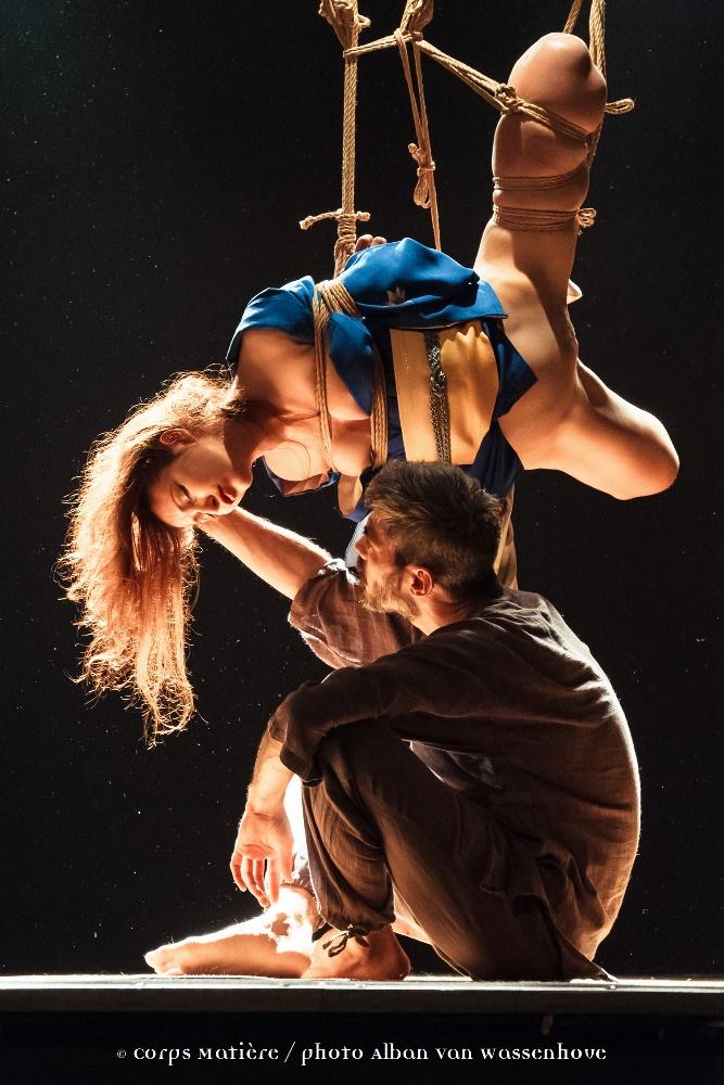 Performance shibari caen Alban Van Wassenhove 06